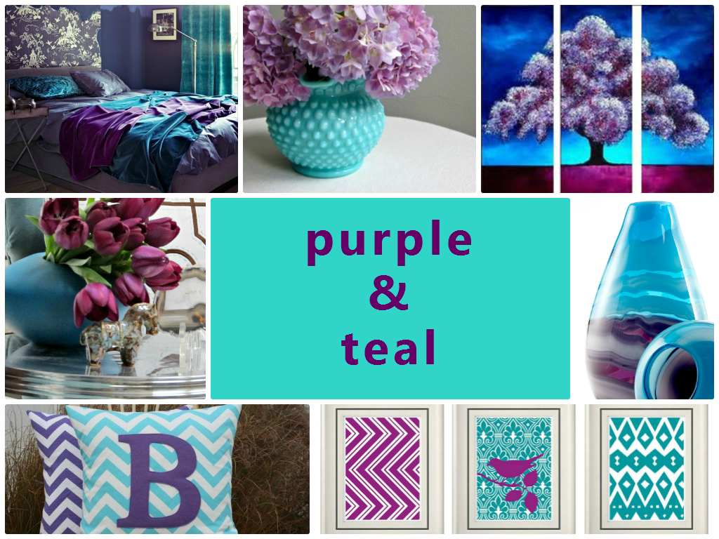 5 Teal and Purple Colour Combination Ideas List - Jennifer ...